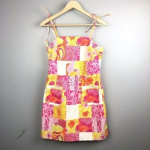 Lilly Pulitzer Floral Patchwork Dress Size 4